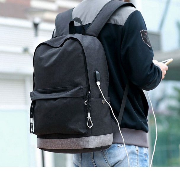 canvas backpack men Casual Back Pack USB High school bags for Teenagers Boys Schoolbag teens black Large Capacity male Bagpack