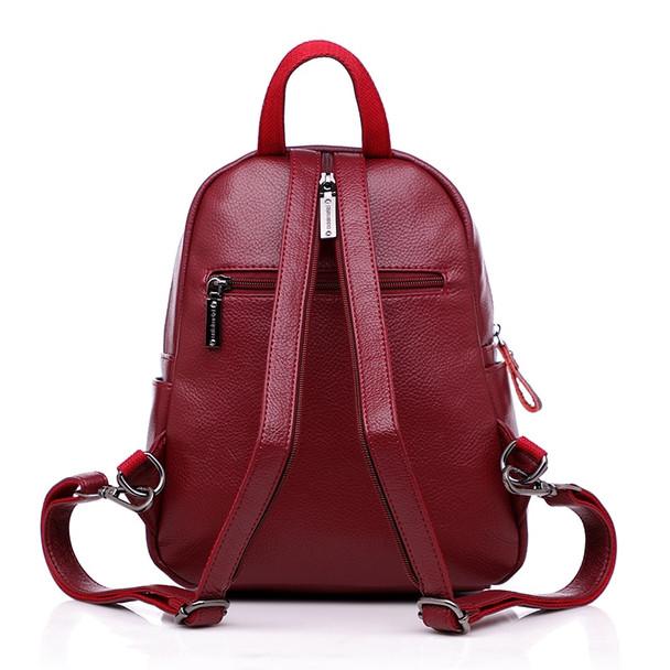 2018 Women Leather Backapcks For Girls Sac a Dos Preppy School Bags Vintage Travel Bagpack Ladies Mochilas Female Back Pack Lady