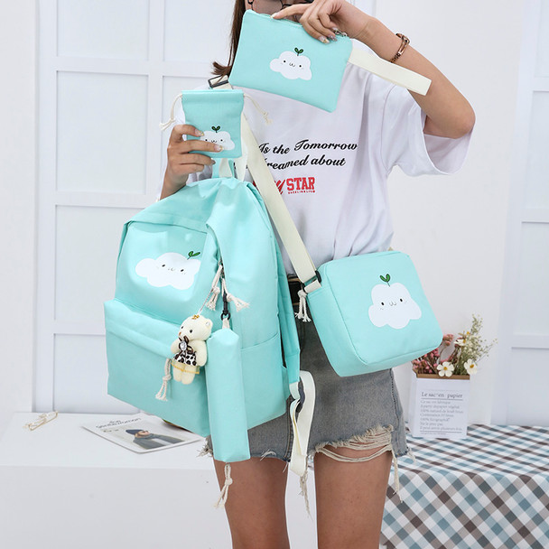 2018 New Fashion Nylon Backpack Schoolbags School For Girl Teenagers Casual Children Travel Bags Rucksack Cute Cloud Printing