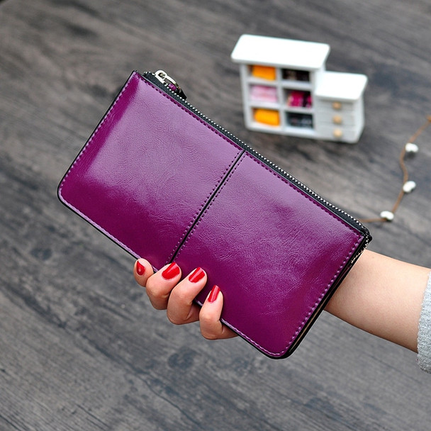 Women Wallets Candy Oil Leather Wallet Long Design Day Clutch Casual Lady Cash Purse Women Hand Bag Carteira lady phone bag