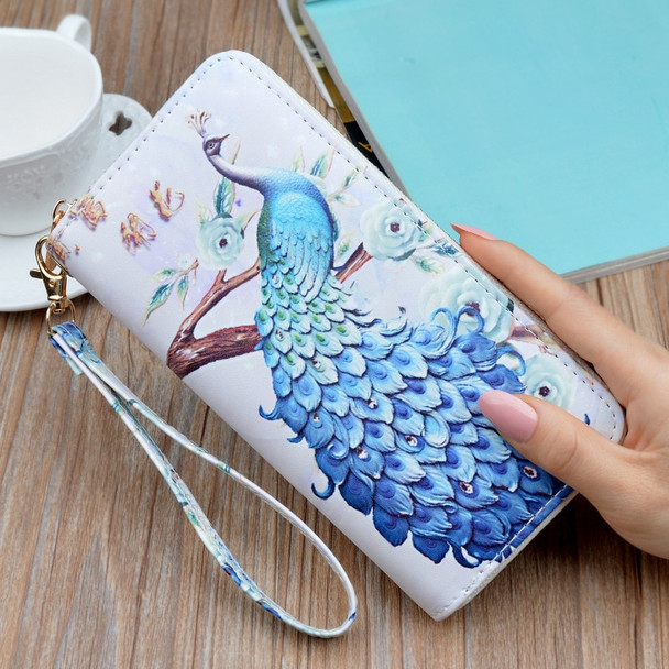 2018 New Fashion Peacock Women Wallets Long Zipper Clutch Purse Large Capacity Student Mobile Phone Hand Bags Portefeuille Femme