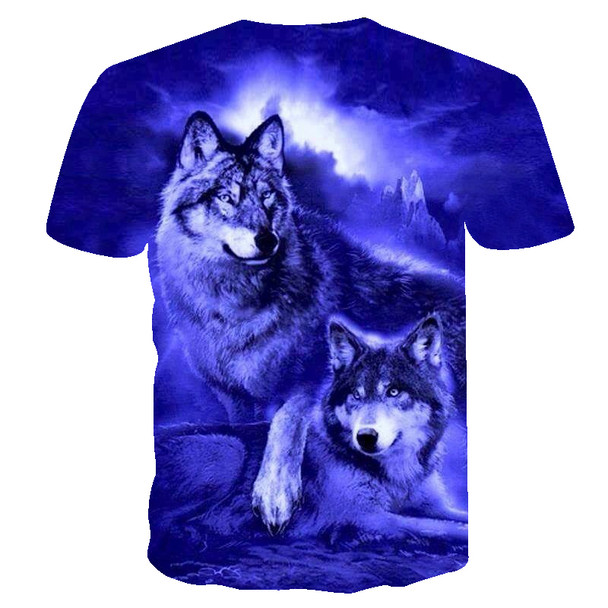 BIANYILONG 2018 flame Wolf printed 3D T shirts Men T-shirts New Design Tops Tees Short Sleeve Shirt Summer Animal Drop ship