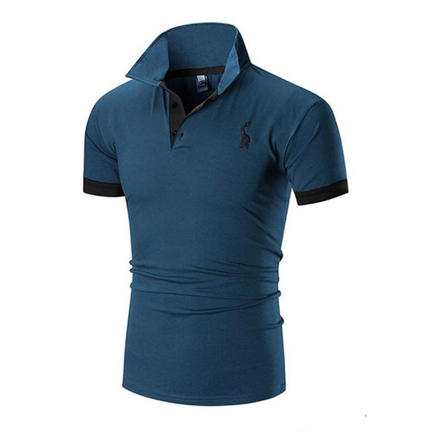 HOWL LOFTY Mens T Shirt Brands 2018 Male Short Sleeve Casual Slim Solid Color Embroidery Deer Pattern T-Shirt Men XXXL