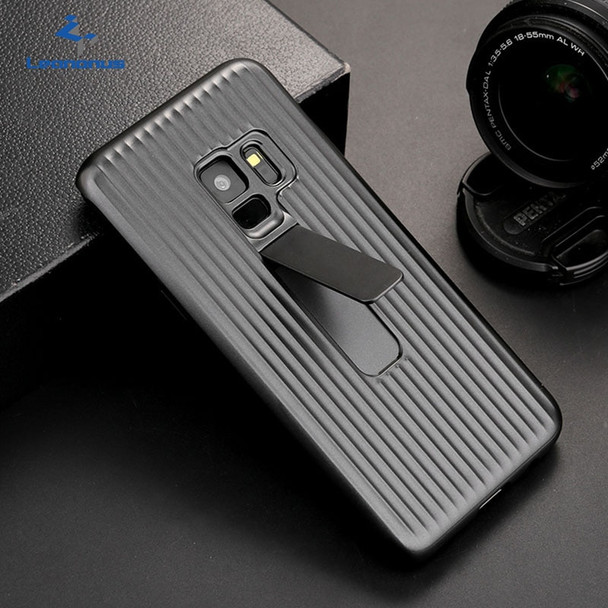 Leanonus Hard Slim Armor Case for Samsung Galaxy S9 S9Plus Car Magnetic Stand Holder Case for Samsung S9Plus Bracket