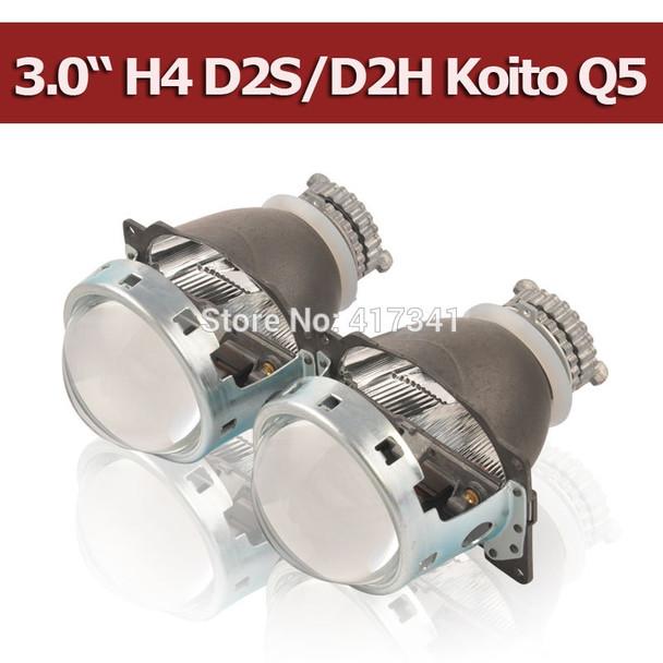 Projector Lens 3 Inches Q5 Koito D2H D2S Bi-xenon HID Bi-xenon Projector Lens LHD/RHD Quick Install for H4 Car headlight