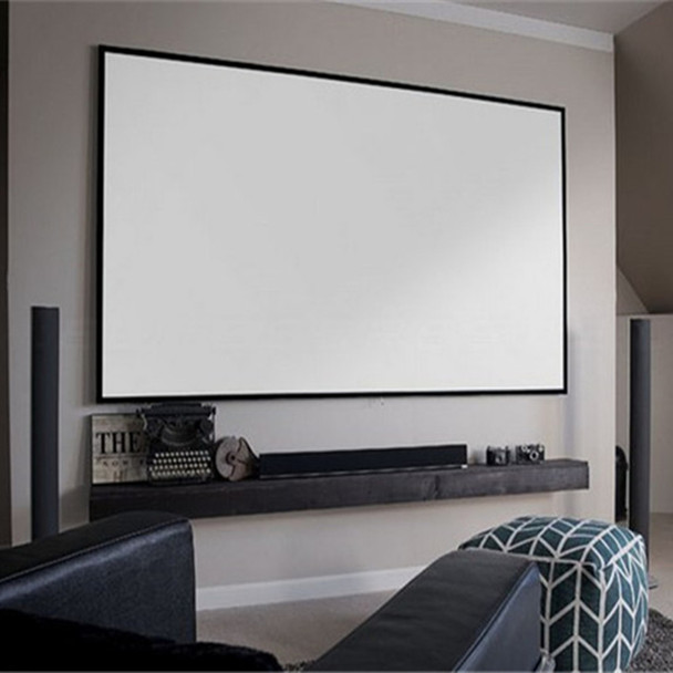 120'' Thin Bezel 4:3 4K Ultra HD Ready HDTV Home Cinema Fixed Frame Projector Movie Screen with slim aluminium frame