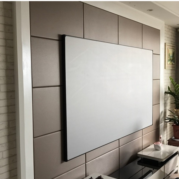 "80"" Thin Bezel 16:9 4K Ultra HD Ready HDTV Home Cinema Fixed Frame Projector Movie Screen with slim aluminium frame"