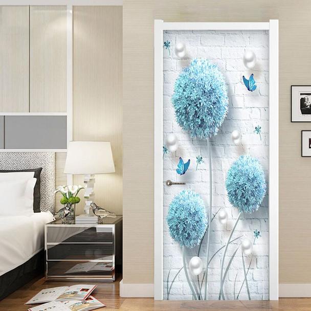 Custom Photo Wallpaper Modern 3D Stereo Blue Dandelion Jewelry Murals Living Room Bedroom Door Sticker Creative DIY Wall Papers