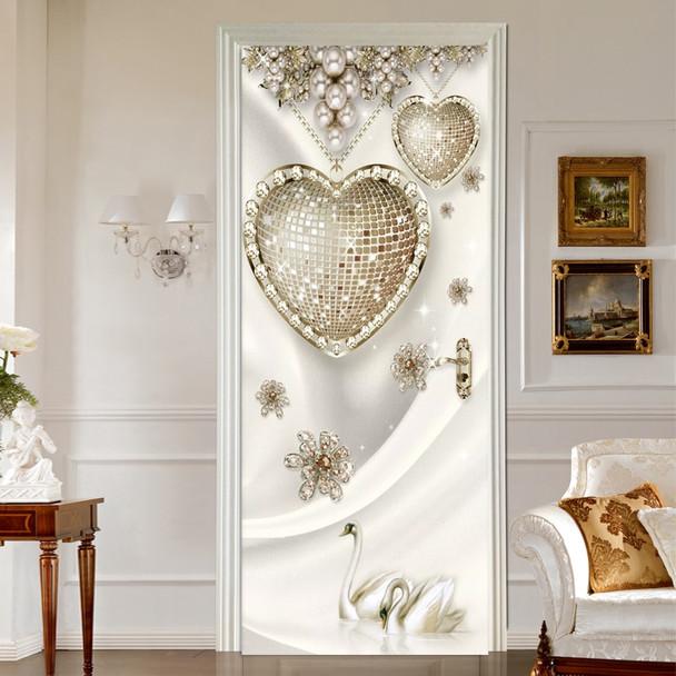 Modern 3D Stereo Jewelry Diamond Photo Murals Wallpaper Living Room Bedroom Luxury Home Decor Door Sticker PVC Wall Papers 3 D