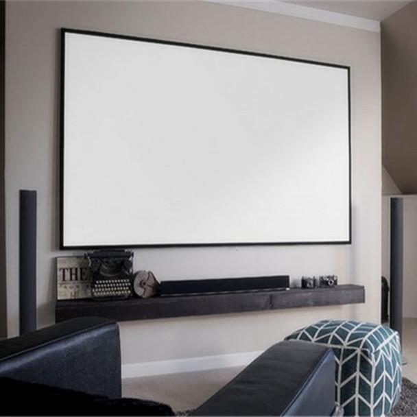 72'' Thin Bezel 4:3 4K Ultra HD Ready HDTV Home Cinema Fixed Frame Projector Movie Screen with slim aluminium frame