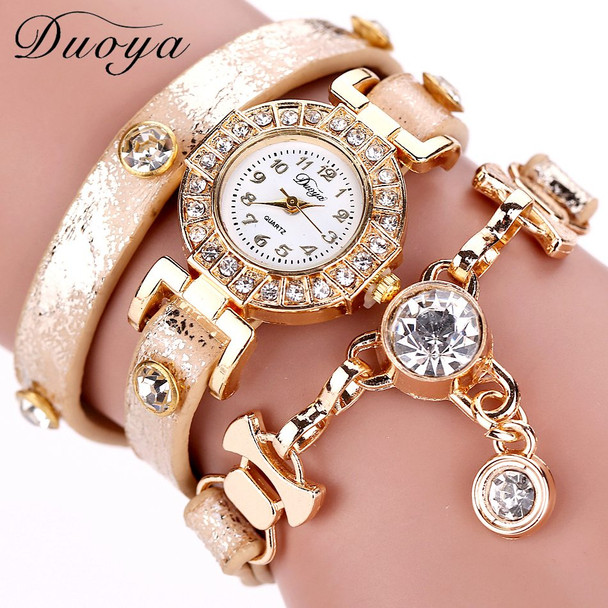 Duoya Women Watches Gemstone New Luxury Bracelet Watches Dress Women Dress Fashion Long Chain Casual Wristwatch Dropshipping