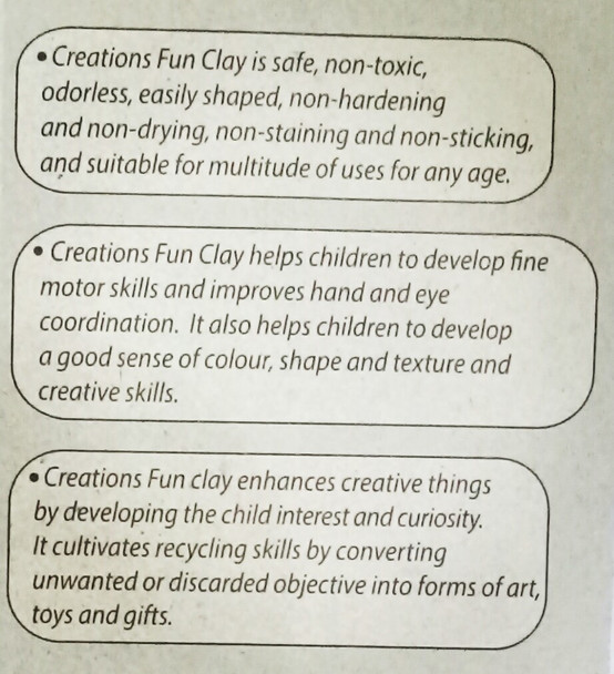 Funclay clay toy art clay set for kids by Creations