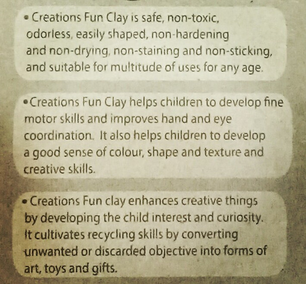 Funclay clay toy art clay set for kids by Creations 100 gms, 1 Small Molds
