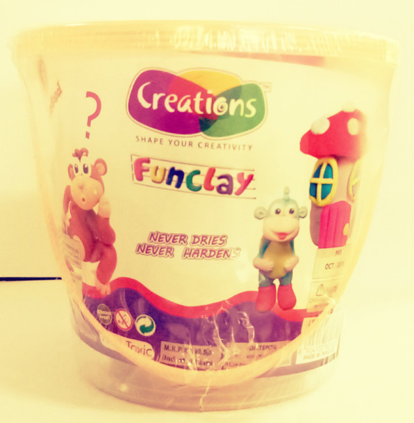 Funclay clay toy art clay set for kids by Creations 225 gms