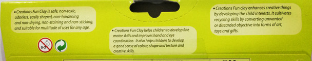 Funclay clay toy art clay set for kids by Creations 100 gms, 12 Colors rainbow clay sticks