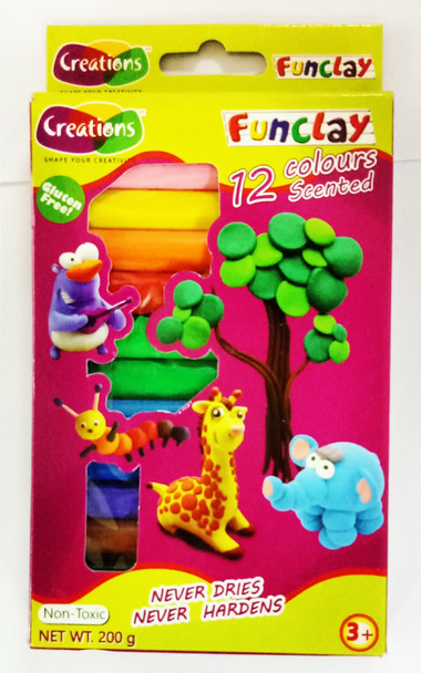 Funclay clay toy art clay set for kids by Creations 200 gms