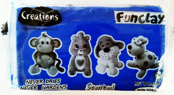 Funclay clay toy art clay set for kids by Creations 454g