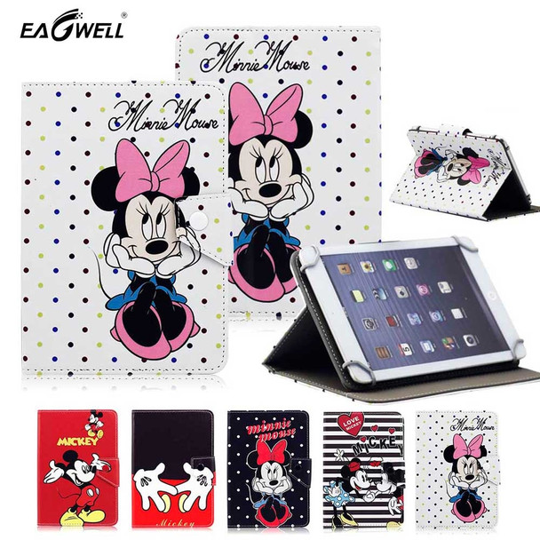 Cartoon Universal Case Cover for 9.7 10 10.1 inch Tablet PC PU Leather Flip Case Stand Cover for iPad 9.7'' Samsung Lenovo 10.1
