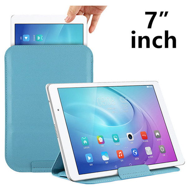 "Case Sleeve 7.0"" Tablet PC Protective Smart cover Protector Leather eBook Reader For Pad PU 7 inch 7"" Tablets Cases 7.5 Covers"