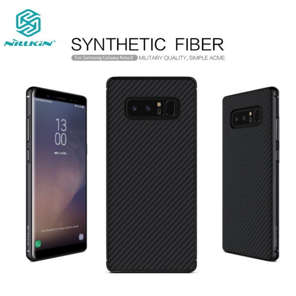 Nillkin synthetic fiber case for Samsung Galaxy Note 8 case 6.32'' Hard Carbon Fiber PP Plastic Back Cover for Samsung Note8