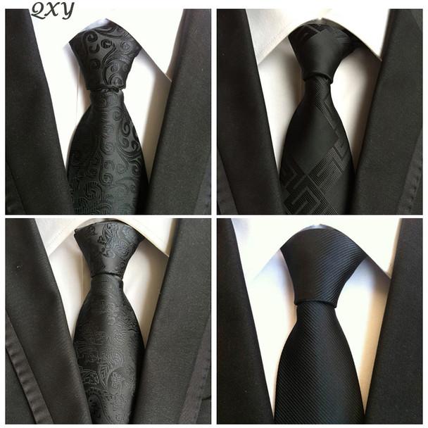 mens fashion ties black necktie dress business Gravata hombre corbata Vestidos men tie Casual Polyester silk tie handkerchie