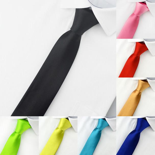 Slim Narrow Black Tie For Men 5cm Casual Arrow Skinny Red Necktie Fashion Man Accessories Simplicity For Party Formal Ties Mens