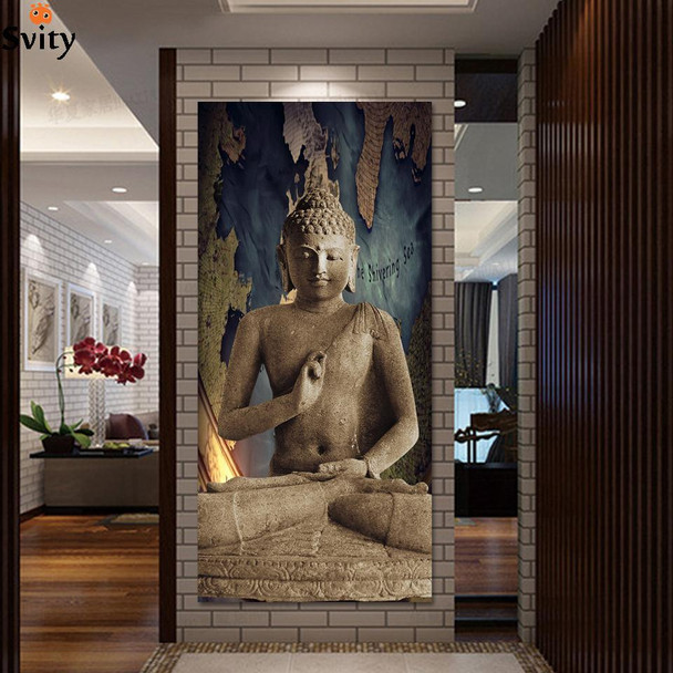 buddha art canvas Wall art buddha Picture landscape Canvas painting Modern living room Decorative