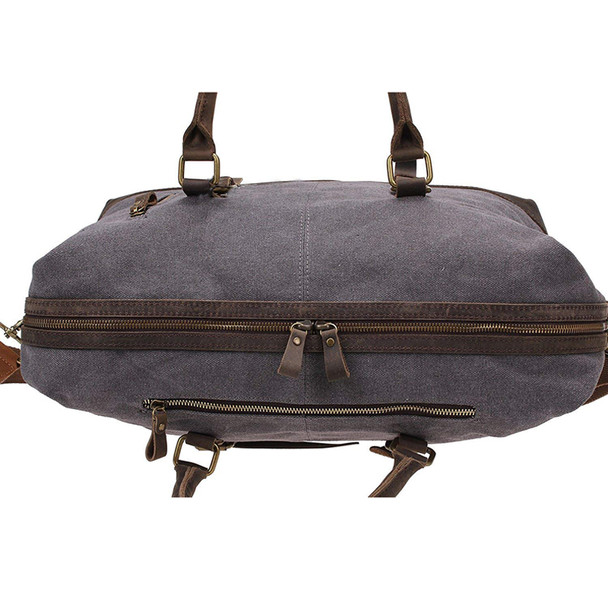 Vintage Military Canvas Leather Big Duffle Bag Men Travel Bags Carry on Travel Luggage bags Large Road Weekend Tote Handbag
