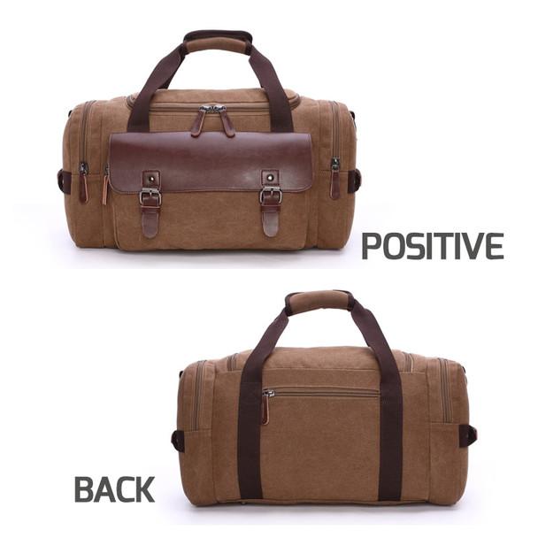 Scione Men Large Capacity Canvas Crossbody Travel Bags Practical Weekend Luggage Duffel Bag Women High Quality Shoulder Handbag