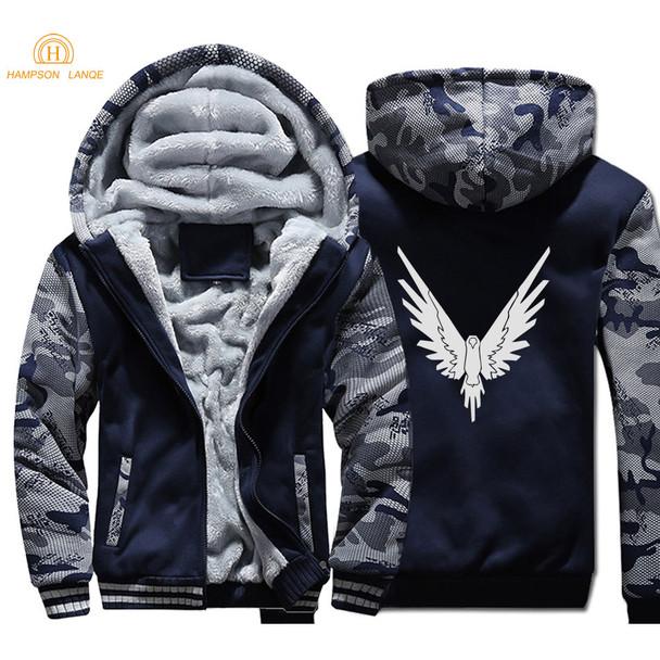 Logan Jake Paul Team 10 Animal Print 2019 Autumn Winter Thick Men Camouflage Hoodies Warm Men's Sweatshirts Hip Hop Jackets