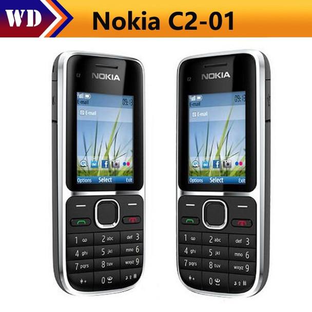 C2-01 Original Unlocked Nokia C2-01 1020mAh 3.15MP 3G Support Russian Keyboard & Aracbic keyboard & Hebrew keyboard Cellphone