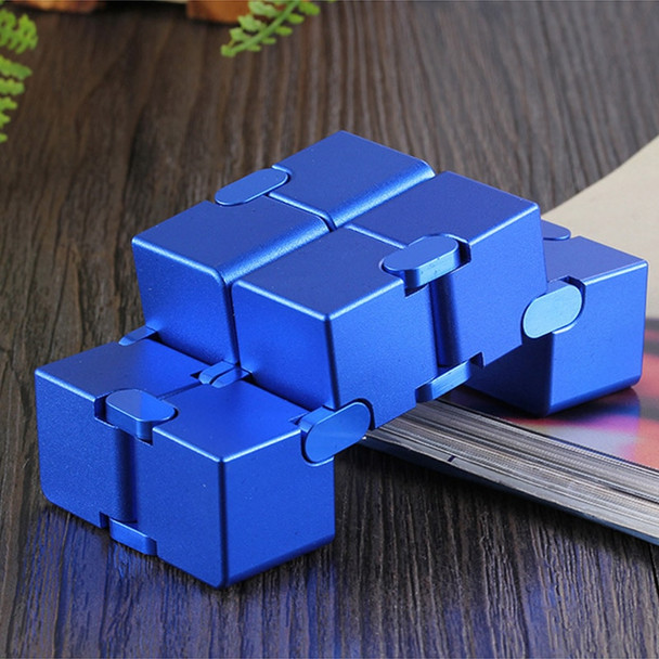 infinity cube aluminium Cube Toys Premium Metal Deformation Magical Infinite stress relief Cube Stress Reliever for EDC Anxiety