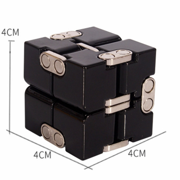 WINCO Premium Metal Infinity Cube Fidget Toy Aluminium Deformation Magical Infinite Cube Toys Stress Reliever for EDC Anxiety