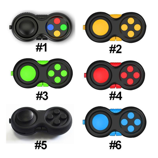 2019 New Fidget Pad Cube Anti-stress Reliever Squeeze Fun Magic Cube Fidget Desk Toy Handle Desk Toys Gifts For Kids Black