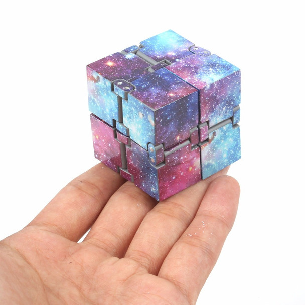 Infinity Cube Prime Fidget Finger Toy Galaxy Pressure Reduction 4x4x4cm Hand Killing Time for Kids Adults Stress Anxiety ADHD