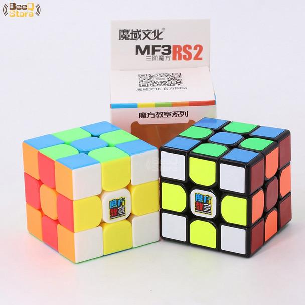 Mofangjiaoshi MF3rs & MF3rs2 Magic Cube 3x3x3 Speed Cube 56mm Puzzle Magico Cubo Black Stickerless Educational Toy Kid MF3RS v2