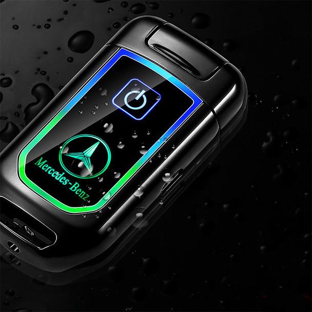 2019 New Car Key Model Dual Arc Pulse Lighter Fingerprinting Touch Screen Usb Cigarette Lighters Rechargeable Plasma Lighter
