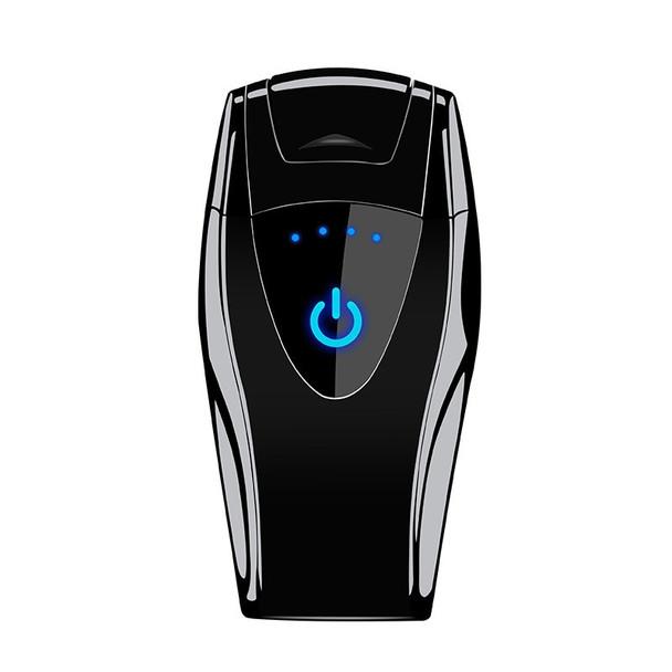 New fingerprint touch induction electronic lighter USB charging double arc cigarette lighter gadgets for men usb gift