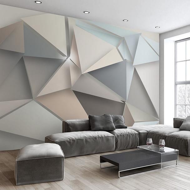 beibehang Custom Photo WallPaper 3D Modern TV Background Wall Living Room Bedroom Abstract Art Mural Geometric Wallpaper mural