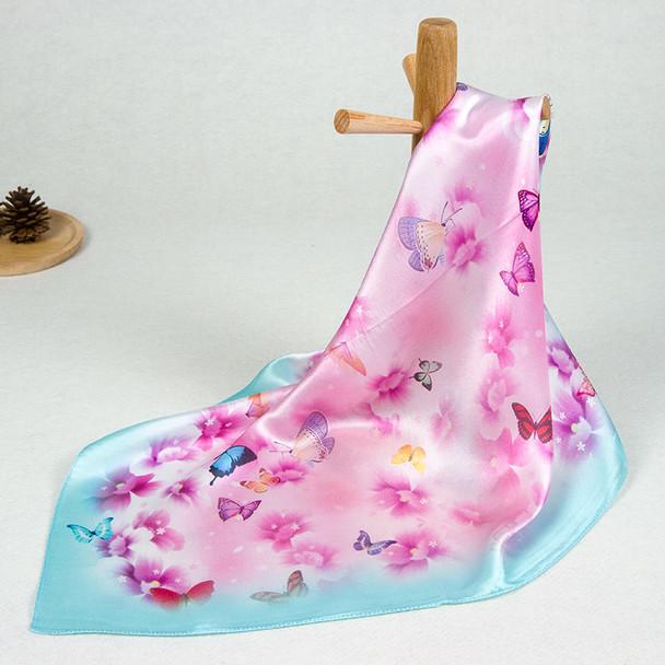 100% Pure Silk Scarf Women Scarf Pattern Scarf Flower Hair Scarf Neck Bandana 2019 Hot Handkerchief Small Square Silk Head Scarf