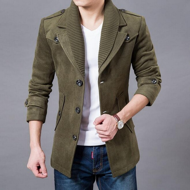 2019 NEW VXO MEN coat Business Men Casual Warm Coats Single Breasted Design Thicken Man Fashion Wool Blazers Woolen coat jacket