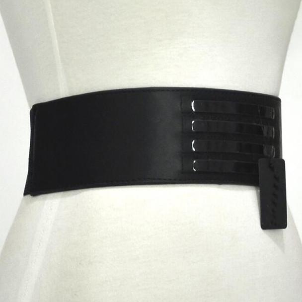 Europe brand design large metal Buckle women's genuine leather belt wide belt runway dress accessories super wide women belt