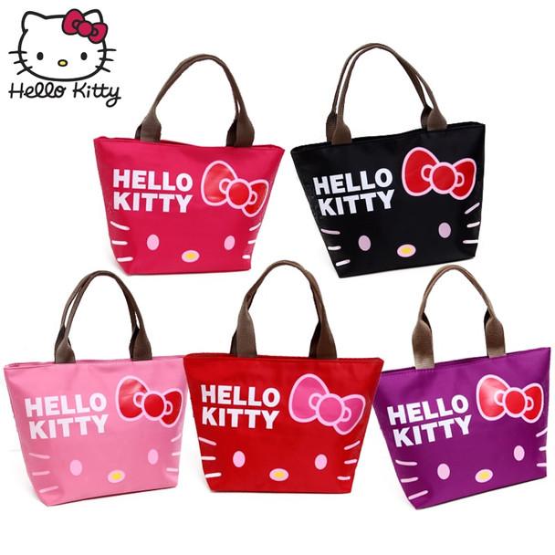 Hello Kitty Women Cartoon Cute Cosmetic Handbag Travel Wash Case Plush Backpack Girls Convenient Wrist Bag MakeUp Beauty Girl