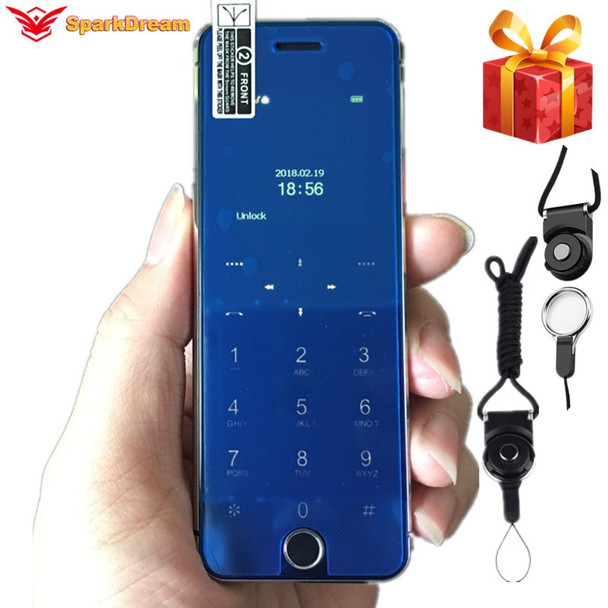 "ULCOOL V66 Plus Phone With Super Mini Ultrathin Card Luxury MP3 Bluetooth 1.67""inch Dustproof Shockproof phone"