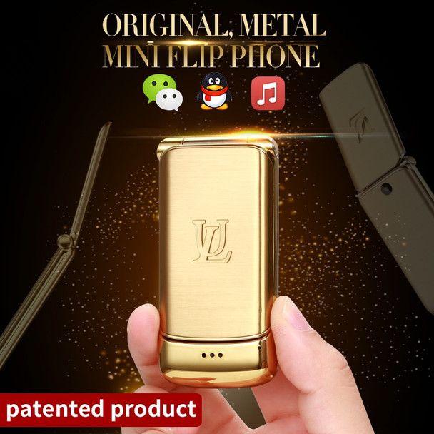 Original Ulcool V9 Luxury Phone Super Mini Flip Cell Phone With 1.54inch FM MP3 Bluetooth Dialer Anti-lost Mobile Phone
