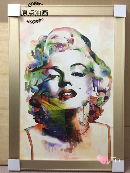 Monroe Colorful Watercolor New Graffiti Street Wall Art Abstract Modern Women Portrait Canvas Oil Painting For Living Room