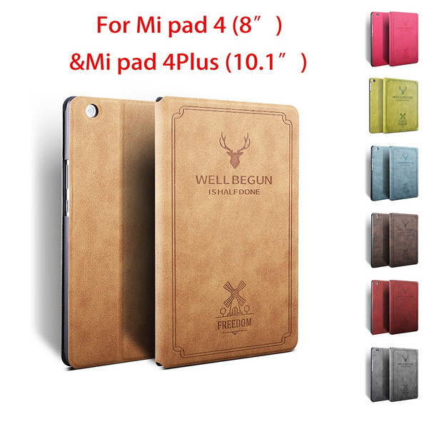 Case For Xiao mi pad 4 protective cover anti-fall 8 inch flip cover mi pad 4 Plus 10.1 inch protective shell