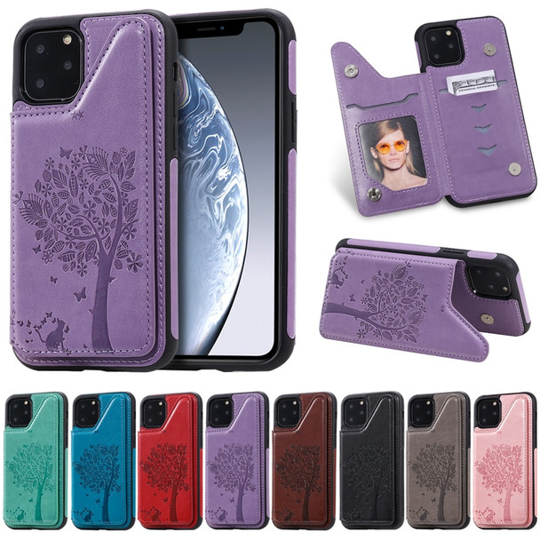 3D Embossing Phone Case for Apple iPhone 11 Pro Max Luxury Leather Cover Card Holder Stand Business Style Fashion