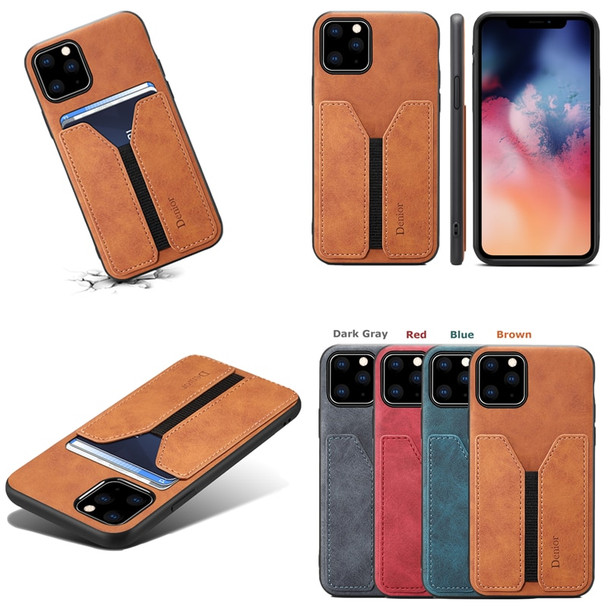Card Holder Phone Case for Apple iPhone 11 Pro Max Luxury Leather Cover Silicone Frame Anti-knock Fashion