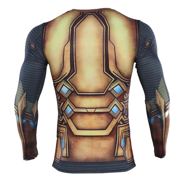 Spider-Man:Far From Home Mystery Compression Shirt Printed T shirts Men Compression Shirt Cosplay Quick-drying clothes For Gyms